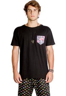 T-Shirt Wosmock Stark - Feminino-Preto