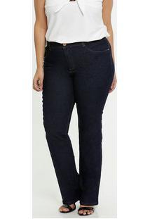 Calça Jeans Feminina Boot Cut Plus Size Biotipo