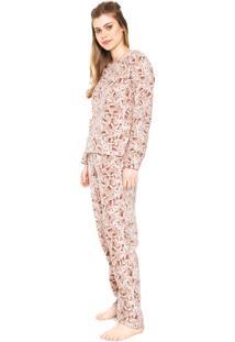 Pijama Pzama Ursos Bege