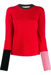 Marni Suéter Color Block - Vermelho