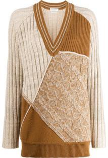 Ballantyne Colour Blocked Knitted Jumper - Marrom