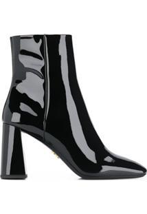 Prada Ankle Boot Vernice - Preto