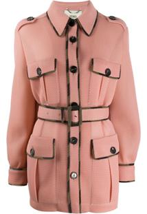 Fendi Belted Fitted Jacket - Rosa