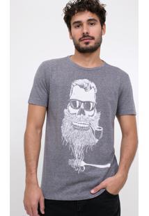 Camiseta Caveira Cachimbo