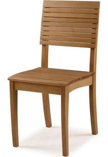 Cadeira Vinci Amendoa Encosto Ripado 90Cm - 59712 - Sun House