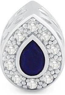 Pingente Life Gota Com Topã¡Zio E Lapis Lazuli