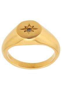 Nialaya Jewelry Anel Skyfall Mini Starburst - Dourado