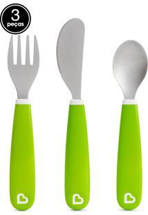 Kit De Talheres Verde Munchkin