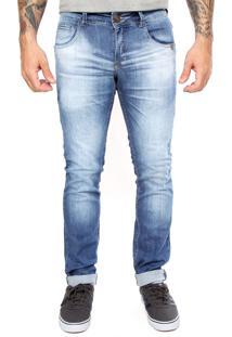 Calça Jeans Zune Estonada Azul