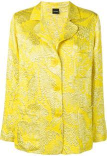 Aspesi Blazer Jacquard Com Botões - Amarelo