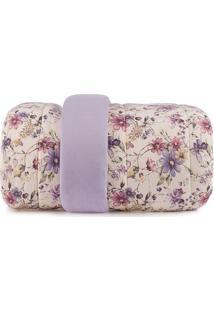 Edredom Floral Malha In Cotton Solteiro- Amarelo Claro &Altenburg