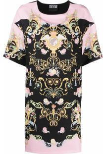 Versace Jeans Couture Vestido Com Estampa Barroca - Preto