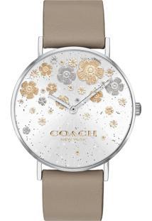 Relógio Coach Feminino Couro Bege - 14503326