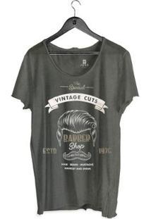 Camiseta Estonada Corte À Fio Joss Vintage Masculina - Masculino