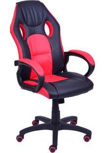 Cadeira Office Gamer - Preta & Vermelha - 117X46X73Cor Design