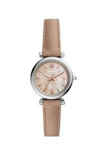 Relógio Fossil Carlie Mini Feminino Prata Es4530/0Kn Es4530/0Kn