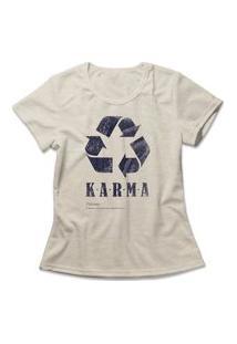 Camiseta Feminina Karma Bege