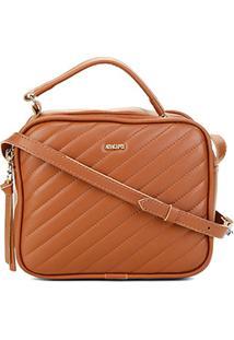 Bolsa Anacapri Mini Bag Eco Matelassê Feminina - Feminino-Marrom Claro