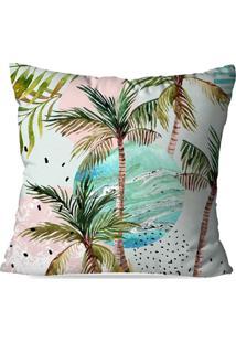 Capa De Almofada Avulsa Decorativa Palm Trees 35X35