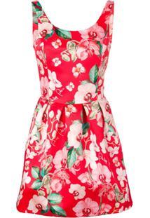 Philipp Plein Bambola Floral Print Mini Dress - Laranja