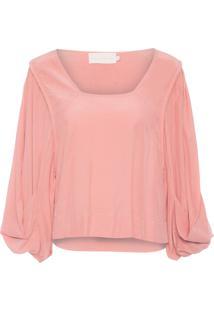 Camiseta Feminina Cacto - Rosa