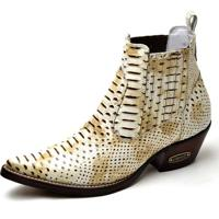 9a66266720 Bota Top Franca Shoes Country - Masculino-Off White