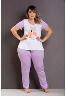 Roupas Plus Size Domenica Solazzo Pijamas Roxo