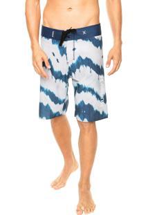 Bermuda Água Hurley Print Azul/ Branca