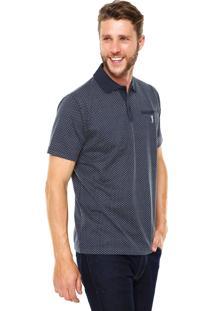 Camisa Polo Aleatory Recorte Azul-Marinho