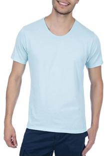 Camiseta Masculina Azul Lisa