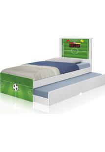 Bicama Juvenil Adesivada Futebol Gramado Casah - Verde - Menino - Dafiti