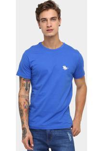 Camiseta Rg 518 Básica Bordado - Masculino-Azul Royal