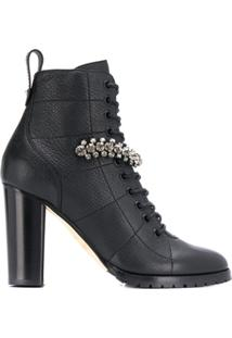 Jimmy Choo Ankle Boot Cruz 95 - Preto