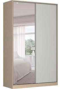 Guarda-Roupa Solteiro Com Espelho Tunas Iii 2 Pt 3 Gv Noce E Branco