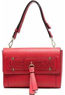 Love Moschino Logo-Detail Shoulder Bag - Vermelho