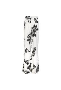 Calça Feminina Pantalona Listras E Floral Florl Nat