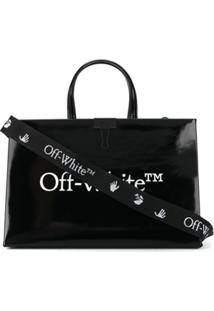 Off-White Medium Box Tote Bag - Preto