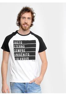 Camiseta Tigs Jesus Masculina - Masculino-Branco+Preto