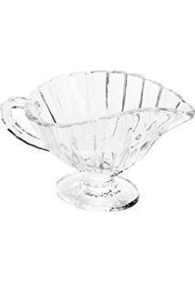 Molheira Creamer Transparente Em Cristal - 21X13 Cm