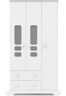 Roupeiro 3 Portas Smart Branco-Acetinado Matic Móveis