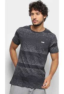 Camiseta Gajang Estonada Masculina - Masculino-Chumbo