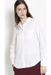 Camisa Lisa Com Bolso- Branca- Lacostelacoste