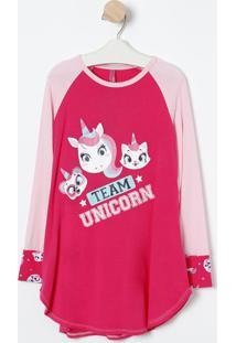 "Camisola ""Team Unicorn""- Pink & Rosa Claro- Puketpuket"