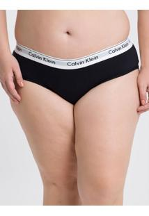 Calcinha Plus Size Tanga Clássica Preta Underwear Calvin Klein - 3Xl
