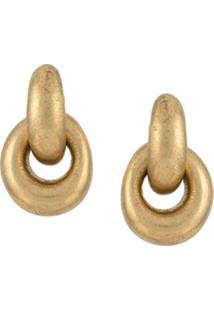 Monies Small Drop Earrings - Metálico