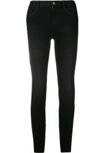 Liu Jo Magnetic Slim-Fit Jeans - Preto