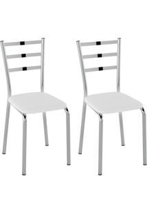 Conjunto Com 2 Cadeiras Acurio Branco