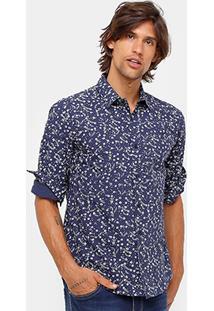 Camisa Colcci Florida Manga Longa Masculina - Masculino