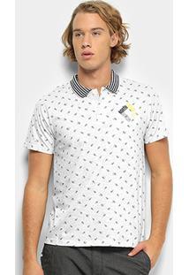 Camisa Polo Milon Malha Estampada Masculina - Masculino-Off White