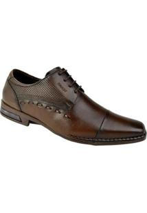 Sapato Social Ferracini Florença Masculino - Masculino-Marrom